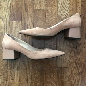 Zara Faux Suede Block Heels